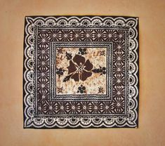 Square Masi with beautiful Hibiscus flower.Dimensions approx 610 mm x ...
