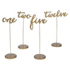 Gold Table Numbers perfect for rustic, elegant, casual basically any function with a seating chart.