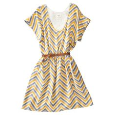 Grey and Yellow Chevron Dress at Target Yellow Chevron, Chevron Dress, Style Me, Two Piece Skirt Set, Short Sleeve Dresses, Summer Dresses, Clothes For Women, Target, Pretty