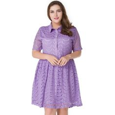 25.9$  Watch now - http://di9ce.justgood.pw/go.php?t=208194317 - Plus Size Lace A Line Dress 25.9$