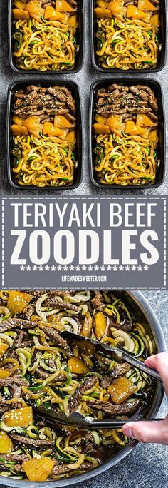 One Pan Teriyaki Beef Stir-Fry {Zucchini Noodles} is the perfect easy gluten free (or paleo) weeknight meal! Best of all, it takes only 30 minutes to make in just one pot and is so much healthier and better than takeout! Great for Sunday meal prep and lef paleo dinner for one