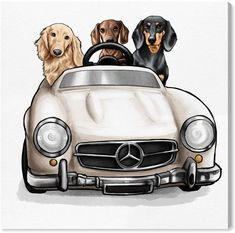 Strolling In Style Dachshunds By The Oliver Gal Artist Co. Canvas Art