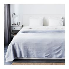 IKEA - FABRINA, Bedspread, cm, , The thicker threads woven into the cotton fabric give this bedspread a lively texture. Furniture, Light Blue, Ikea, New Homes, Home Decor, Bed, Bedroom