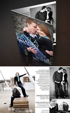 Convite de casamento com foto dos noivos