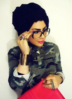 The Arabiya & The Hijab, camo and red!