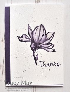 Less is More Colour challenge #279 - the colour purple. Elegant Eggplant water coloured using my clear wink of stella! Remarkable You from Stampin' Up!