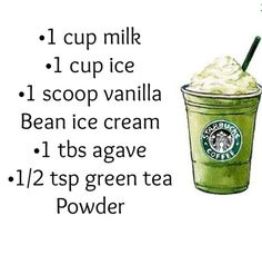 DIY Starbucks green tea frappucino