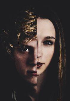 Evan Peters and Taissa Farmiga (Tate Langdon and Violet Harmon) on American Horror Story.