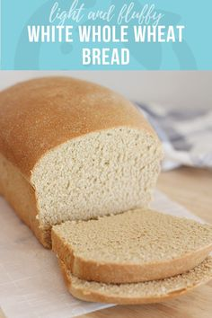 White Whole Wheat Bread Healthy Ideas And Recipes For Kids Is There Anything Better Than Homemade Bread? Delicate, Delicate White Whole Wheat Bread Has The Texture Of Bread Made From Refined Flour, With The Fiber And Vitamins Of A 100 Whole Grain Loaf. White Whole Wheat Bread Recipe, White Wheat Bread, Best Whole Grain Bread, Bread Machine Wheat Bread Recipe, Bread Machine Recipes, Sandwich Bread Recipes, Bread Recipes For Kids, Baby Recipes, Corn Recipes