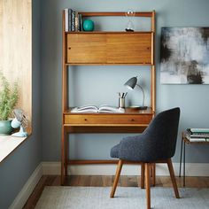 Retro To Go: Retro office: Mid-century wall desk from West Elm