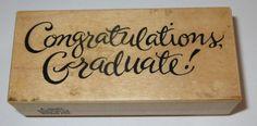 Congratulations Graduate PSX Rubber Stamp F-2593 School College Graduation Kids #PSX #Graduation