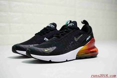 quality design 00a2a 9fde3 Best Quality Nike Air Max 270 Flyknit Black White Orange 016 Mens Womens  Sneakers Nike Air Max 270 For Sale