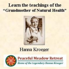 Hanna Kroeger Biography - Early Years of | Peaceful Meadow Retreat