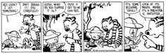 Calvin and Hobbes, May 05, 1988 - It's some bizarre skull!  ...Look at its mouth. Maybe it's a prehistoric anteater.