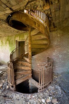 ianference: This is one of the very first exposures I took of the cast iron spiral staircase in the Nurses' Building on North Brother Island. It definitely came from that WOW moment when I got to the end of a hallway and discovered this rusting hulk, one of the coolest things left on the island. Even more than half a decade later, I still recall that feeling, and seeing this photo again brings it right back! Print available on Smugmug.