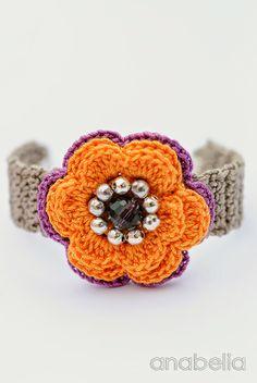 Spring summer crochet bracelet by Anabelia