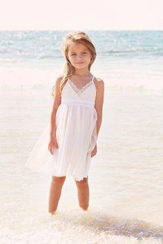 BLACK FRIDAY Ivory Lace flower girl Dress, boho twirly dress, beach wedding, champagne Tulle, boho t Beach Dresses, Nice Dresses, Girls Dresses, Dress Beach, Long Dresses, Tulle Dress, Lace Dress, Flowergirl Dress, Lace Bodice