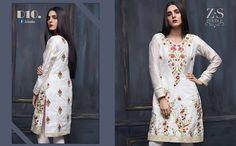 54734602ac Areeba Saleem Summer Lawn Kurti Collection 2018 by ZS Textiles – Fashion  Cluba