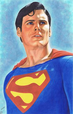 Christopher Reeve as Superman by jenchuan