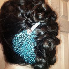 Feather updo I did on Tiffany.