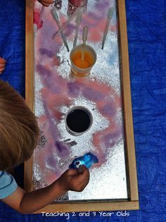 "Using Mirrors to Explore Light & Colour Outdoors from Teaching 2 and 3 Year Olds ("",)"
