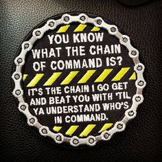 "Chain+of+Command+morale+patch Make+sure+they+know+who's+in+command! 3.5""+velcro+backed  (03/14/15+now+velcro+backed!)  Free+US+shipping"