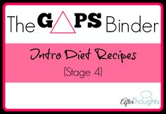 Stage 4 of the GAPS intro diet {my Stage 4 pinboard is here} allows you to roast meats instead of boiling them, add in cold-pressed extra virgin olive oil, add freshly made juice, and add almond bread {which is essentially the pancake recipe made from almond meal or almond flour instead of almond butter}. This …