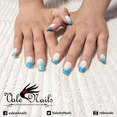 #ricostruzioneunghie #unghie #nails #summer #geluv #gelcolor #style #fashion #beauty #nailart #picoftheday #instagood #indigonailab #bluecolor #glitter #lightblue #white