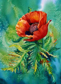 1-orange-oriental-poppy-karen-mattson.jpg (654×900)
