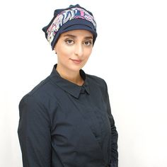Navy Blue hijab cap, ready turban, women's turban - stretch turban hat/cap, stylish headcover for the beach or ball park - sizes available Coral Pink, Pale Pink, Yellow, Hijab Caps, Wide Face, Modest Fashion Hijab, Turban Hat, Wearing A Hat, Beach Ready