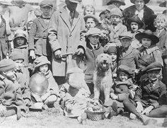 Laddie Boy presides over the annual Easter Egg Roll on the Whitehouse lawn in 1923. https://www.facebook.com/193326577406483/photos/a.195503057188835.48813.193326577406483/851288434943624/?type=1