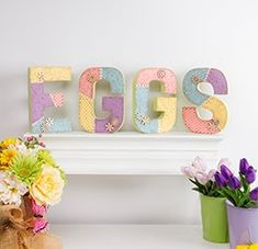 Decorate your mantle this Easter with these EGG-cellent Embossed Easter Letters! Get everything you& need to complete this project at your local Pat Catan& today! Easter Projects, Easter Crafts, Holiday Crafts, Craft Projects, Crafts For Kids, Arts And Crafts, Easter Ideas, Online Craft Store, Craft Stores