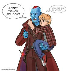 Yondu Udonta & Star Lord (Peter Quill) || Guardians of the Galaxy Marvel Dc Comics, Marvel Avengers, Marvel Fan Art, Marvel Jokes, Marvel Funny, Yondu Udonta, Gaurdians Of The Galaxy, Superhero Memes, Dc Memes