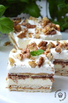 Cake Recipes, Dessert Recipes, Tasty, Yummy Food, Polish Recipes, Food Cakes, Healthy Sweets, Cookie Desserts, Catering