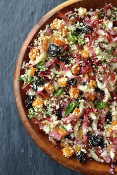 Radicchio, Butternut Squash, Dried Cherry and Cauliflower Couscous Salad