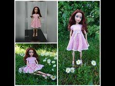 Вязание для кукол крючком Платье с бусинками. Dress for Barbie. - YouTube
