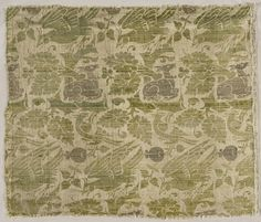 Textile With Design of Stags and Birds Italy, Venice, early 15th century