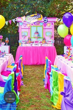 Large Shopkins store front from Trendy Shopkins Birthday Party at Kara's Party Ideas. See the whole party and more at karaspartyideas.com!