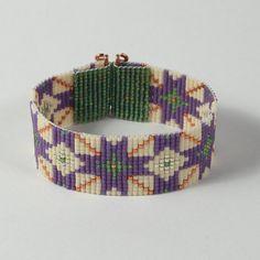 Arabic Mosaic Bead Loom Bracelet by PuebloAndCo on Etsy, $18.99