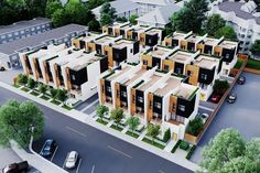 Three-storey townhomes at Oakway are coming soon to lively Langley, BC Row House Design, Duplex House Design, Villa Design, Townhouse Exterior, Modern Townhouse, Affordable House Plans, Future Buildings, Facade Architecture, House Layouts
