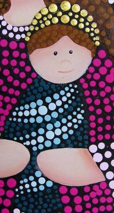 Pinturas para manualidades, cerámica y artesanía Cantek Pointillism, Dot Painting, Dots, Kids Rugs, Country, Christmas, Image, Stone Crafts, Colouring In