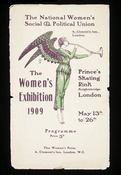 Sylvia Pankhurst designed this programme for a major women's suffrage exhibition where many suffrage plays were performed.