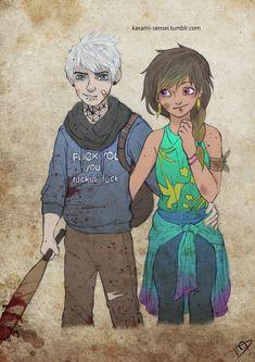 The Walking Dreamworks : Jack and Toothiana by Kasami-Sensei.deviantart.com on @deviantART