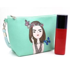 5444e18d6303 DUDINI Korean Fashion Girl Large-capacity Cosmetics Bags PU Leather  Waterproof Make Up Bag Women Cute Cartoon Toiletry Bag