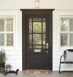 Trendy house entrance ideas diy the doors Ideas Best Front Doors, Black Front Doors, Black Windows, Black Exterior Doors, Exterior Doors With Glass, Exterior Door Trim, Front Doors With Windows, Front Door Paint Colors, Painted Front Doors