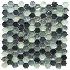 "Melay Glass Laguna 1"" x 4"" Glass Mosaic Tile & Reviews   Wayfair Bath Tiles, Glass Mosaic Tiles, Mosaic Wall, Green Tile Backsplash, Blue Kitchen Cabinets, Glass Brick, Ceramic Subway Tile, Glass Installation, Tiles Online"