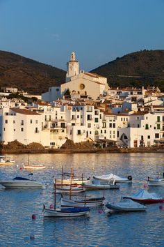 size: Photographic Print: Poster of Harbour and Town, Cadaques by Stuart Black : Fine Art Cadaques Spain, Places Around The World, Around The Worlds, Madrid, Spain And Portugal, Spain Travel, Malaga, Nice View, Beautiful Beaches
