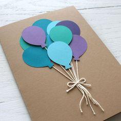 Handmade Birthday Cards, Happy Birthday Cards, Diy Birthday, Balloon Birthday, Niece Birthday, Birthday Bouquet, Card Birthday, Birthday Greetings, Handmade Greetings