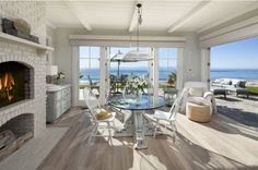 Breakfast Room Dennis Miller Beach House. I think we could be quite happy here, yes....