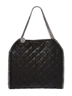 Stella McCartney Falabella Shaggy Deer Small Quilted Tote